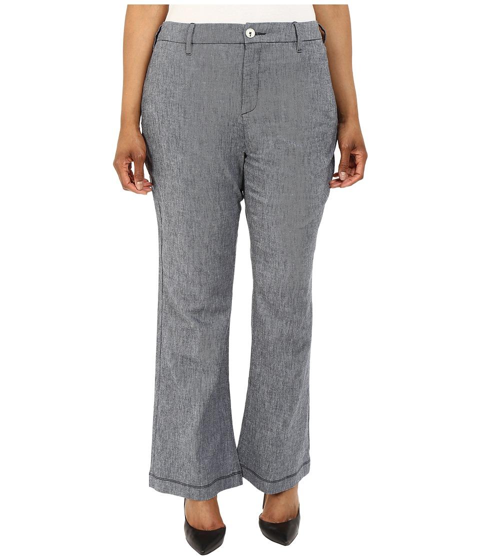 NYDJ Plus Size - Plus Size Claire Trousers (Textured Navy) Women's Casual Pants plus size,  plus size fashion plus size appare