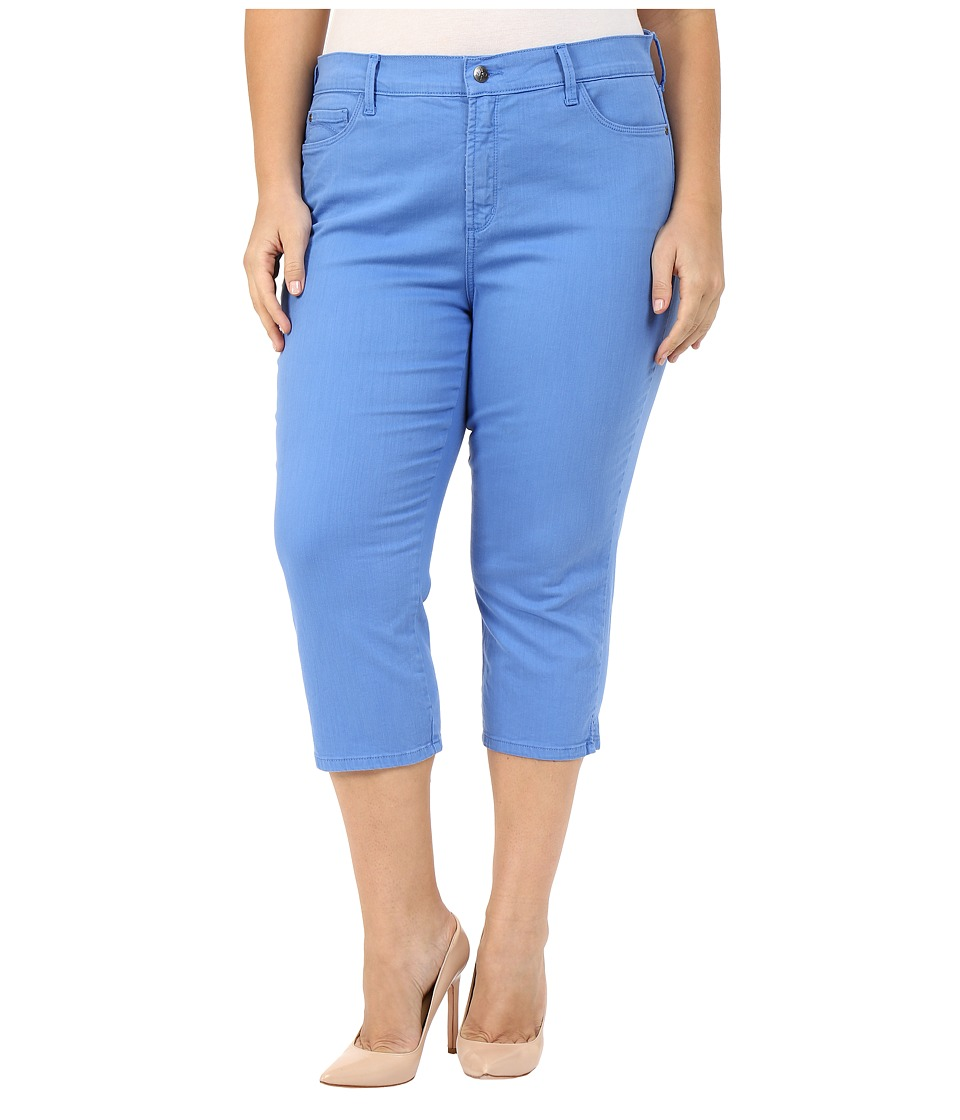 NYDJ Plus Size - Plus Size Ariel Crop w/ Slit in Regatta Blue (Regatta Blue) Women's Jeans
