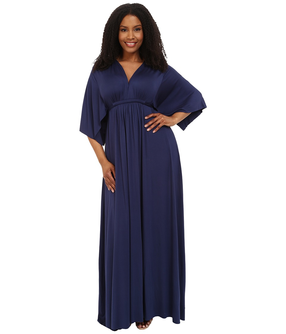 Rachel Pally Plus - Plus Size Long Caftan Dress (Atlantic) Women's Dress