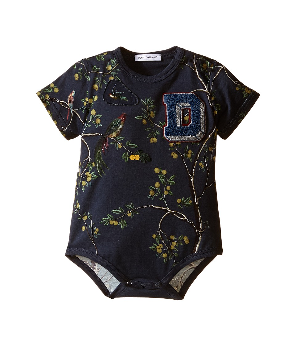 Dolce & Gabbana Kids - Cravat One-Piece (Infant) (Green Print) Boy's Jumpsuit & Rompers One Piece