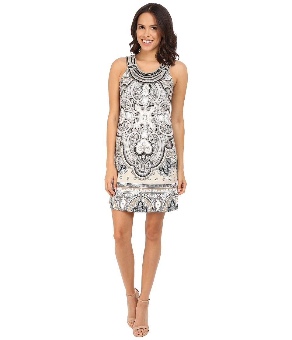 Hale Bob - Punch Paisley Dress with Luxe Hand Beading (Beige) Women's Dress