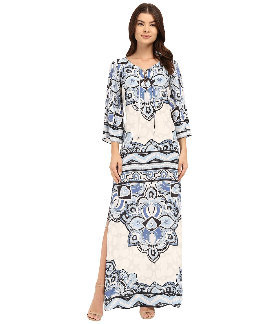 Hale Bob - Color Code Caftan (Denim) Women's Dress