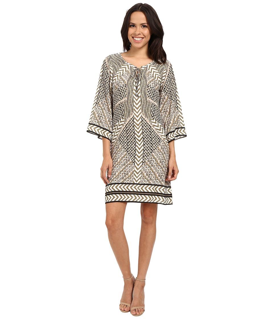 Hale Bob Take Your Pick 3/4 Sleeve Dress (Beige) Women