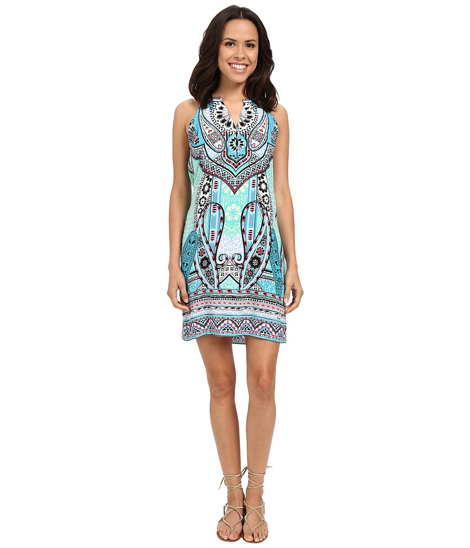 Hale Bob - Life's a Beach Dress with Button Detail (Mint Green) Women's Dress