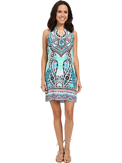 Life's A Beach Dress With Button Detail by Hale Bob