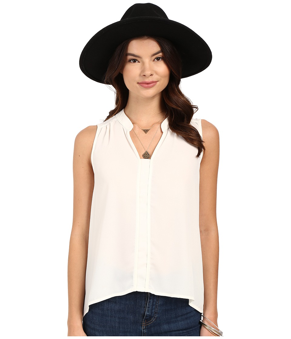 Jack by BB Dakota - Adamma Crepe de Chine Collared Tank Top (Ivory) Women's Sleeveless