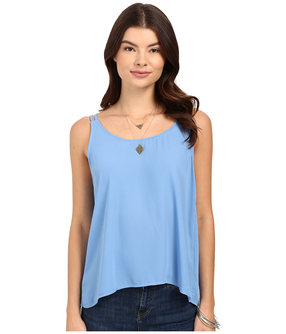 Jack by BB Dakota - Halia Crepe de Chine Strappy Top (Summer Sky Blue) Women's Clothing