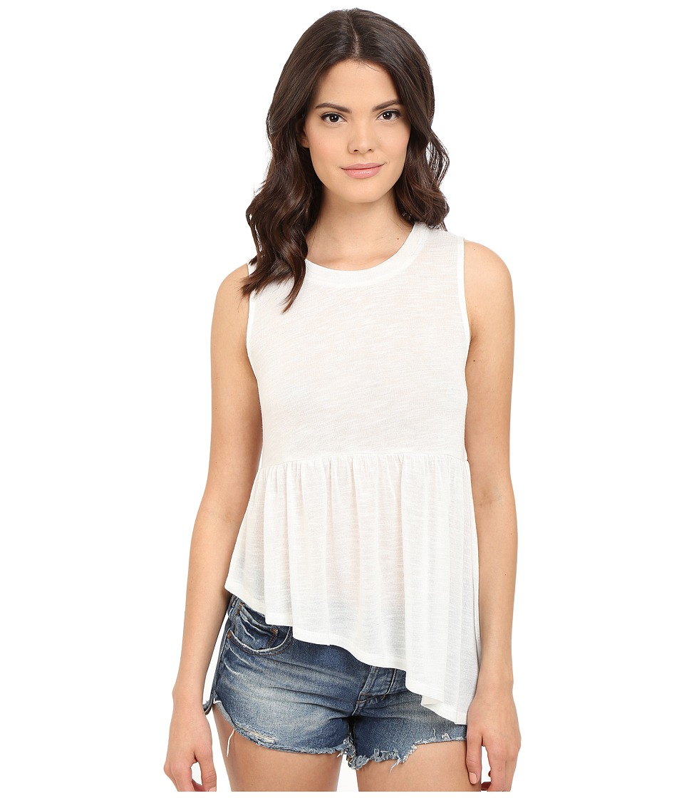 Jack by BB Dakota - Casper Slub Knit Asymmetrical Hem Top (Off-White) Women's Clothing