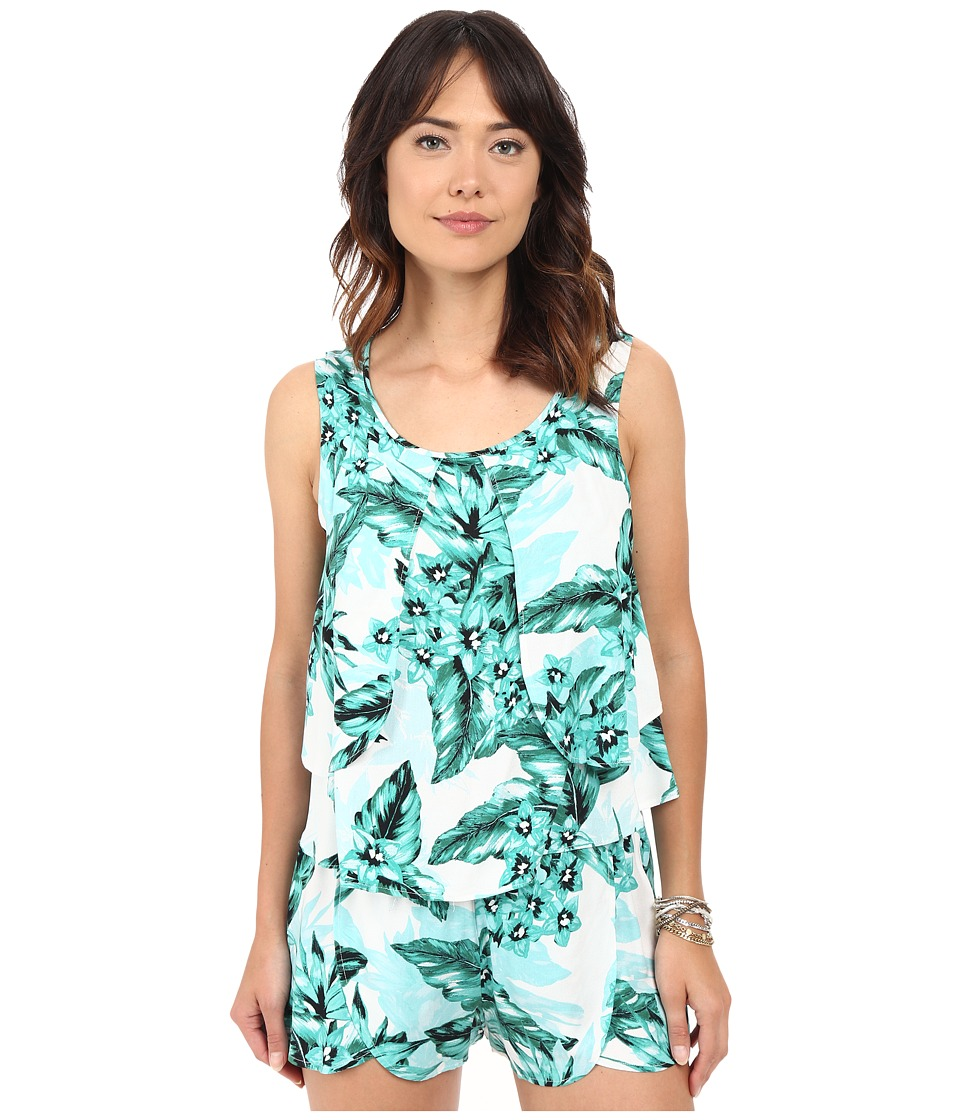 Jack by BB Dakota - Barnabus Tropical Bliss Printed Rayon Crepe Top (Multi) Women's Clothing