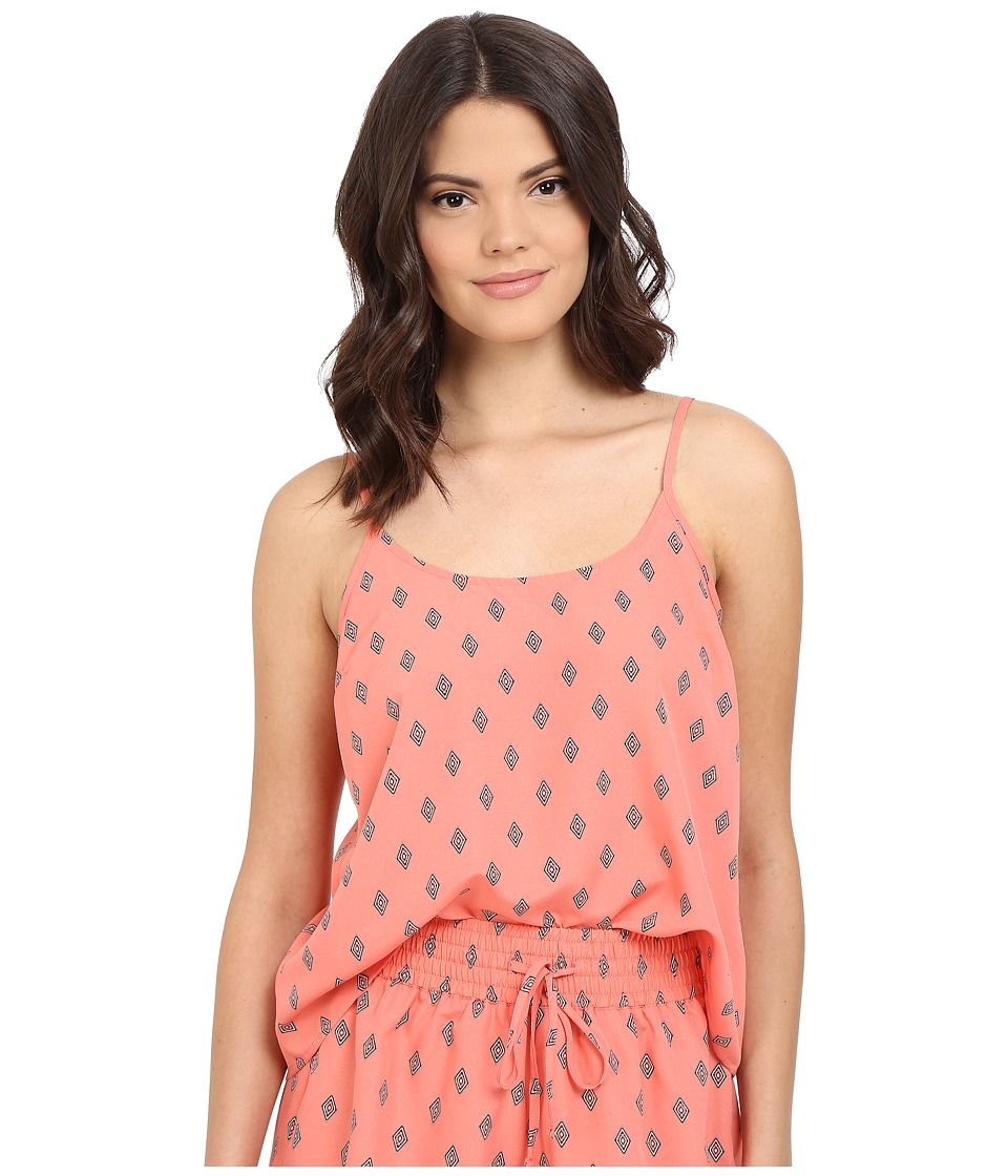 Jack by BB Dakota - Lucinda Split Diamonds Printed Crepe de Chine Top (Multi) Women's Sleeveless