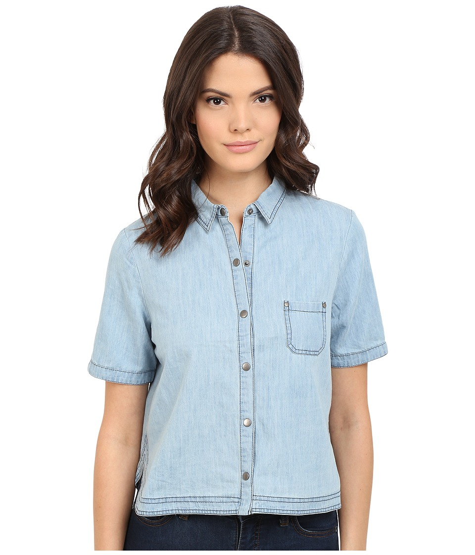 Jack by BB Dakota - Ferrara Washed Chambray Button Up Top (Medium Wash Chambray) Women's Short Sleeve Button Up