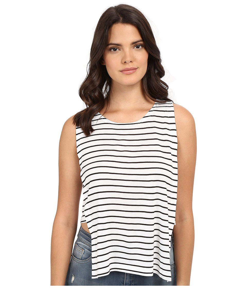 Jack by BB Dakota - Charmaine Yarn Dye Rayon Jersey Stripe Knit Top (White) Women's Clothing