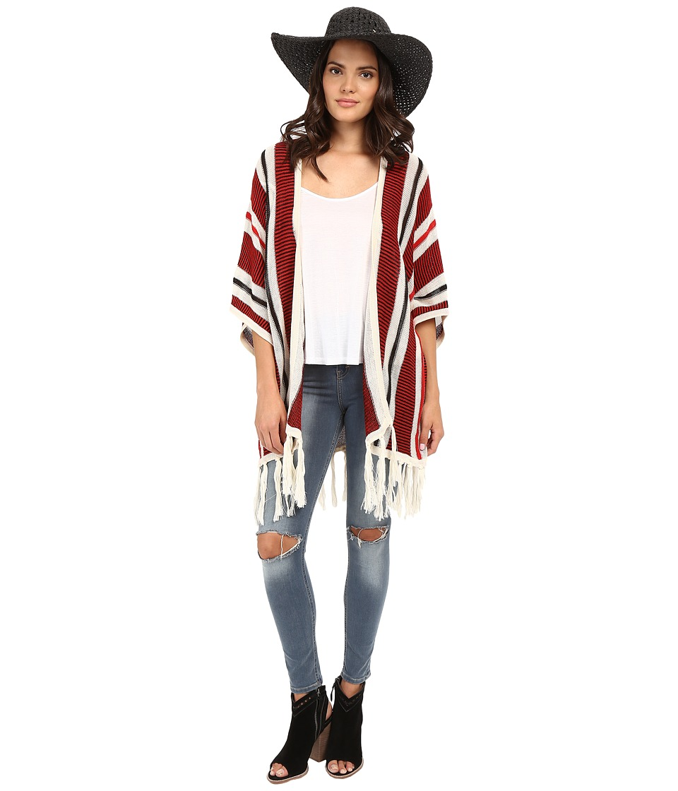 Jack by BB Dakota - Dobrin Acrylic Beach Stripe Fringe Cardigan (Multi) Women's Sweater
