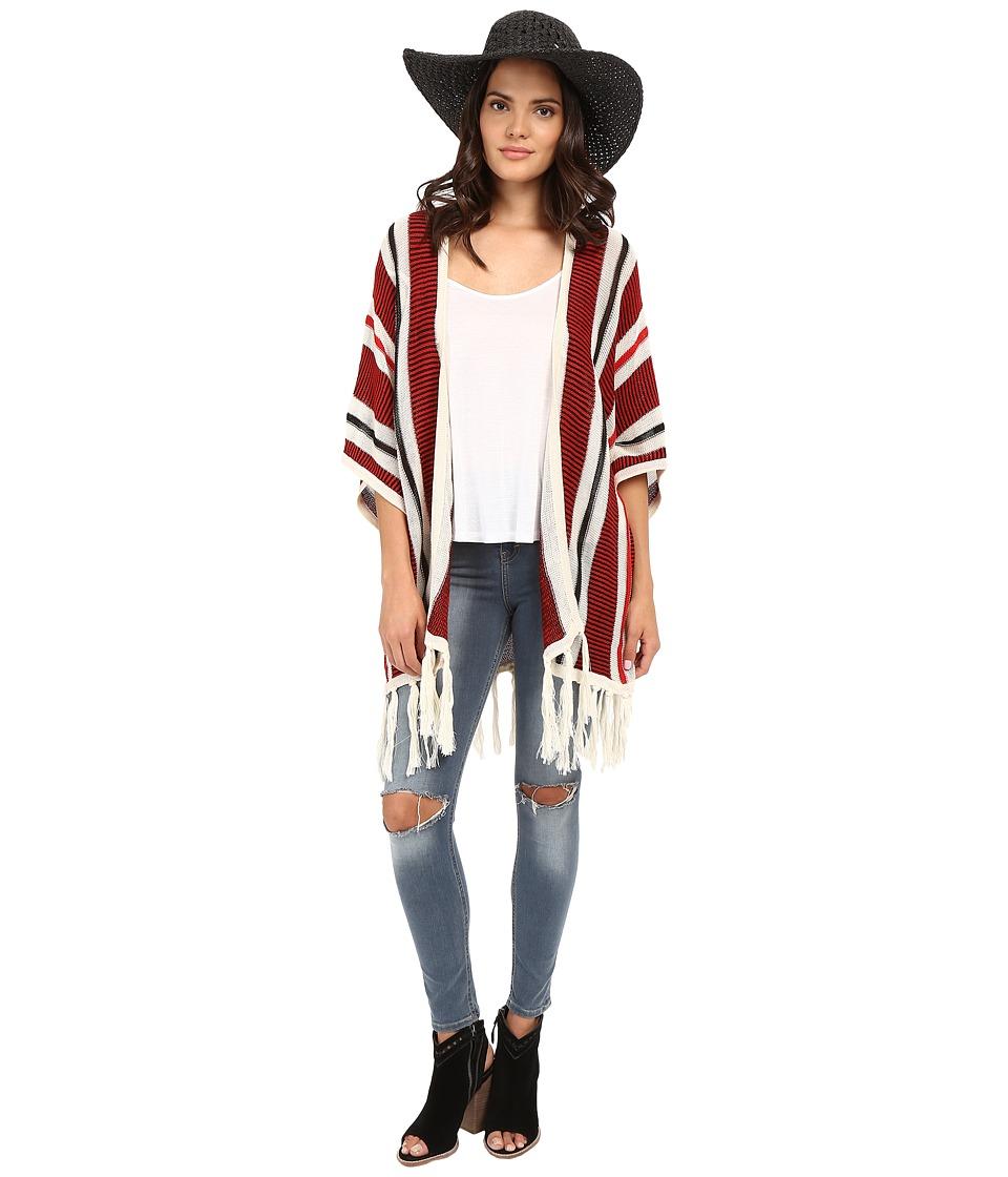 Jack by BB Dakota - Dobrin Acrylic Beach Stripe Fringe Cardigan (Multi) Women's Sweater