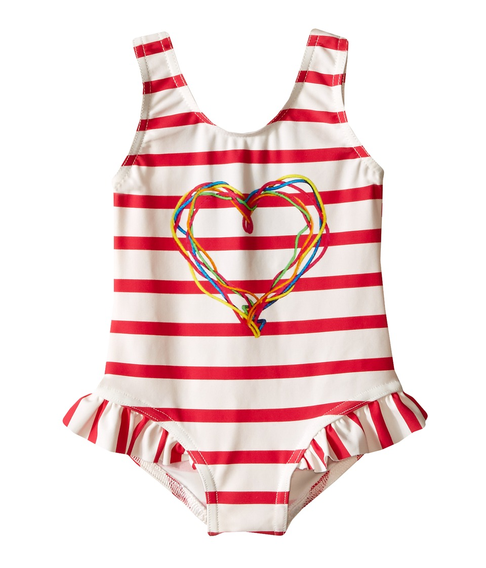 Junior Gaultier - Suri Striped Swimsuit (Infant/Toddler) (Fuchsia) Girl's Swimsuits One Piece