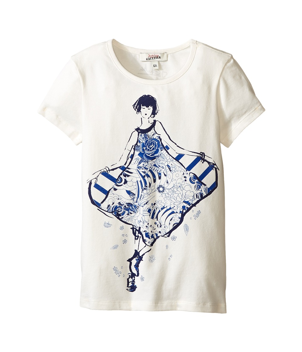 Junior Gaultier - Son T-Shirt (Toddler/Little Kid) (Ecru) Girl's T Shirt