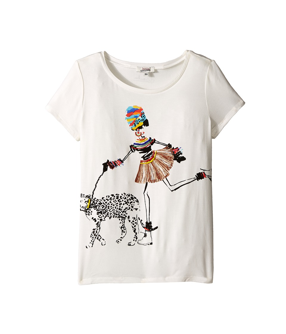 Junior Gaultier - Soya T-Shirt (Big Kid) (White) Girl's T Shirt