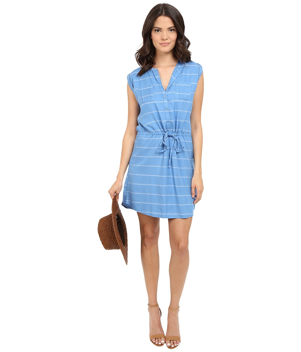 Jack by BB Dakota - Cortland Yarn Dye Stripe Shirtdress (Summer Sky Blue) Women's Dress