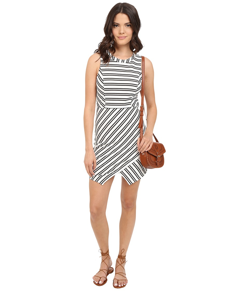 Jack by BB Dakota - Dominick Stripe Ponte Bodycon Dress (White) Women's Dress