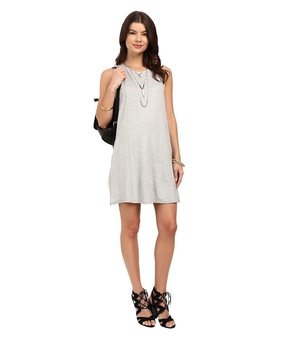 Jack by BB Dakota Willamer Light French Terry Cross Back Dress (Light Heather Grey) Women