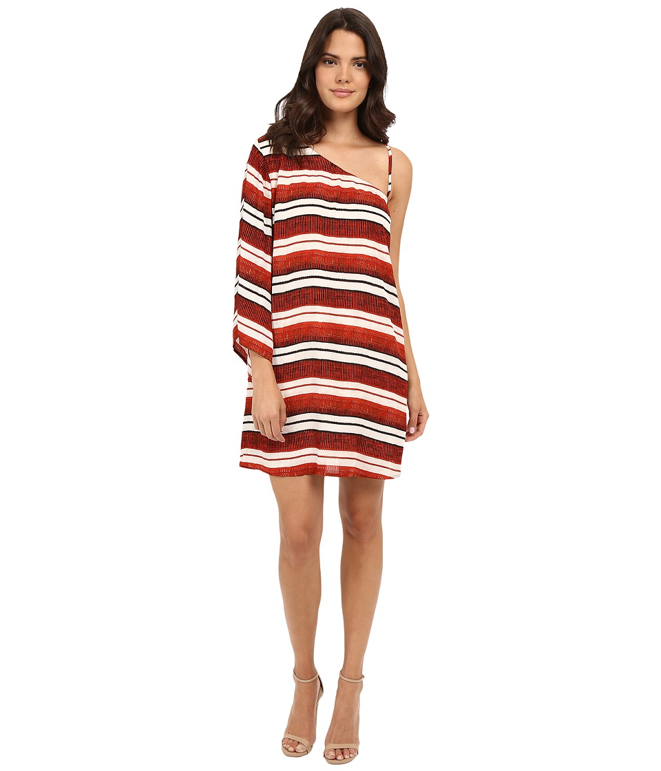 Jack by BB Dakota - Bryanne Beach Blanket Stripe Printed Crinkle Rayon Dress (Multi) Women's Dress