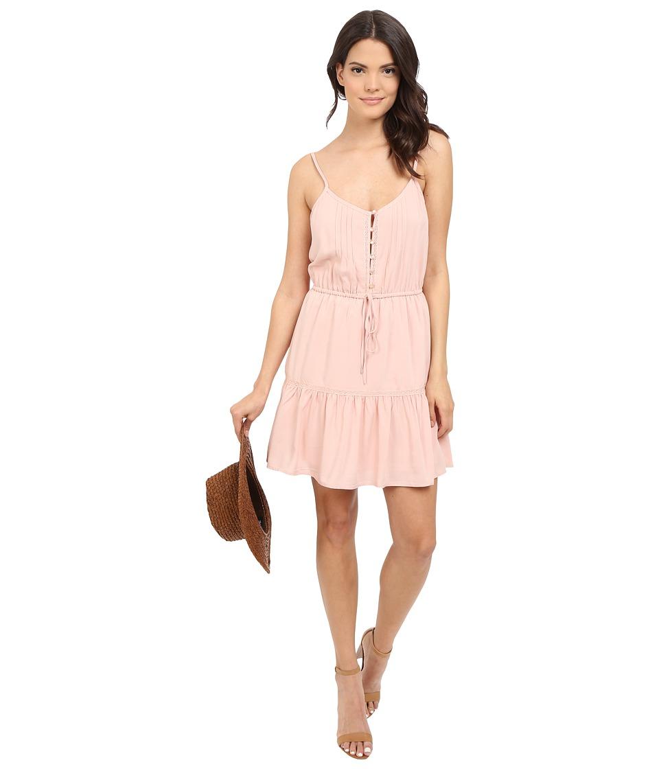 Jack by BB Dakota - Finella Rayon Challi Lace Trim Dress (Sunset Pink) Women's Dress
