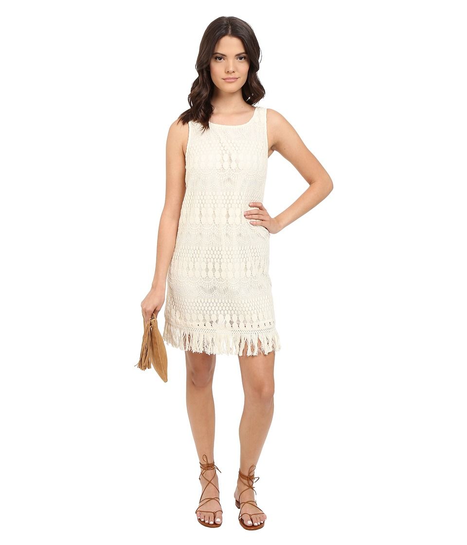 Jack by BB Dakota - Calliope Lace Dress and Cotton Fringe Trim (Ivory) Women's Dress