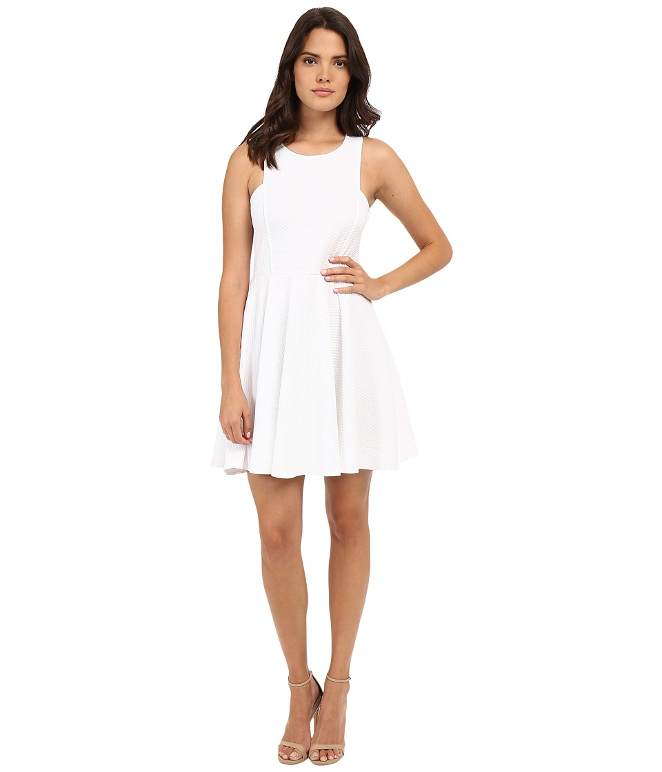 Jack by BB Dakota - Kennet Textured Knit Fit and Flare Dress (White) Women's Dress