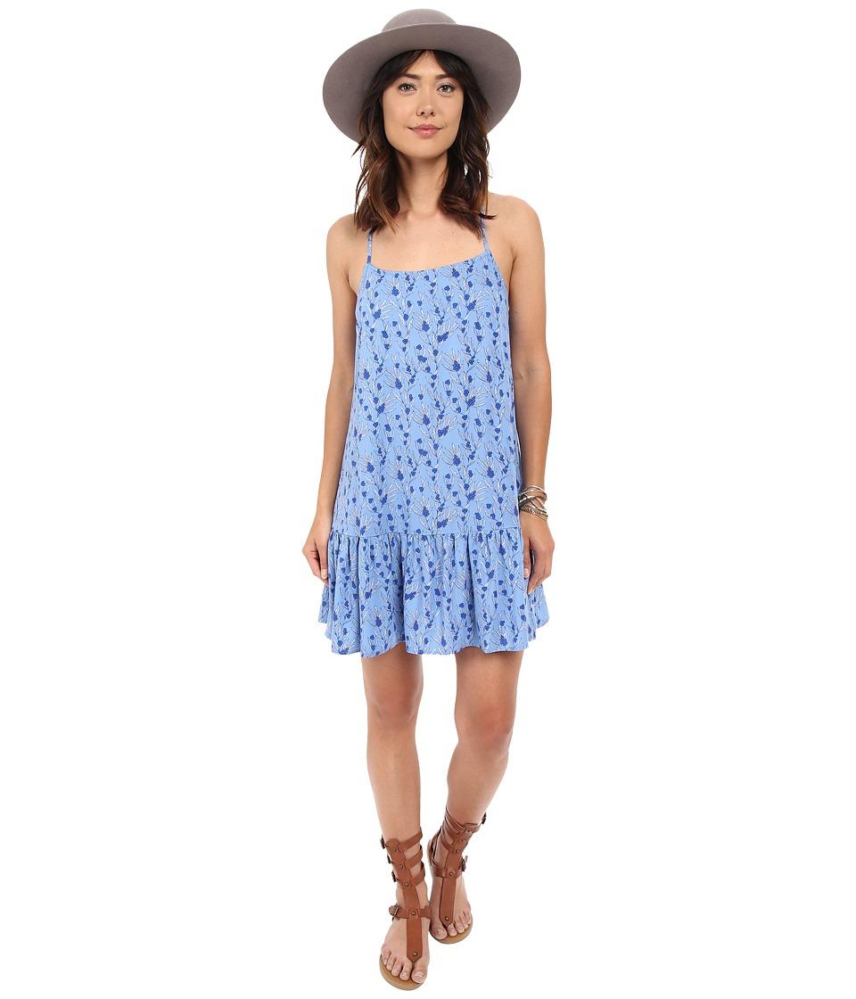 Jack by BB Dakota - Veera Printed Rayon Challi Dropped Waist Dress (Blue) Women's Dress