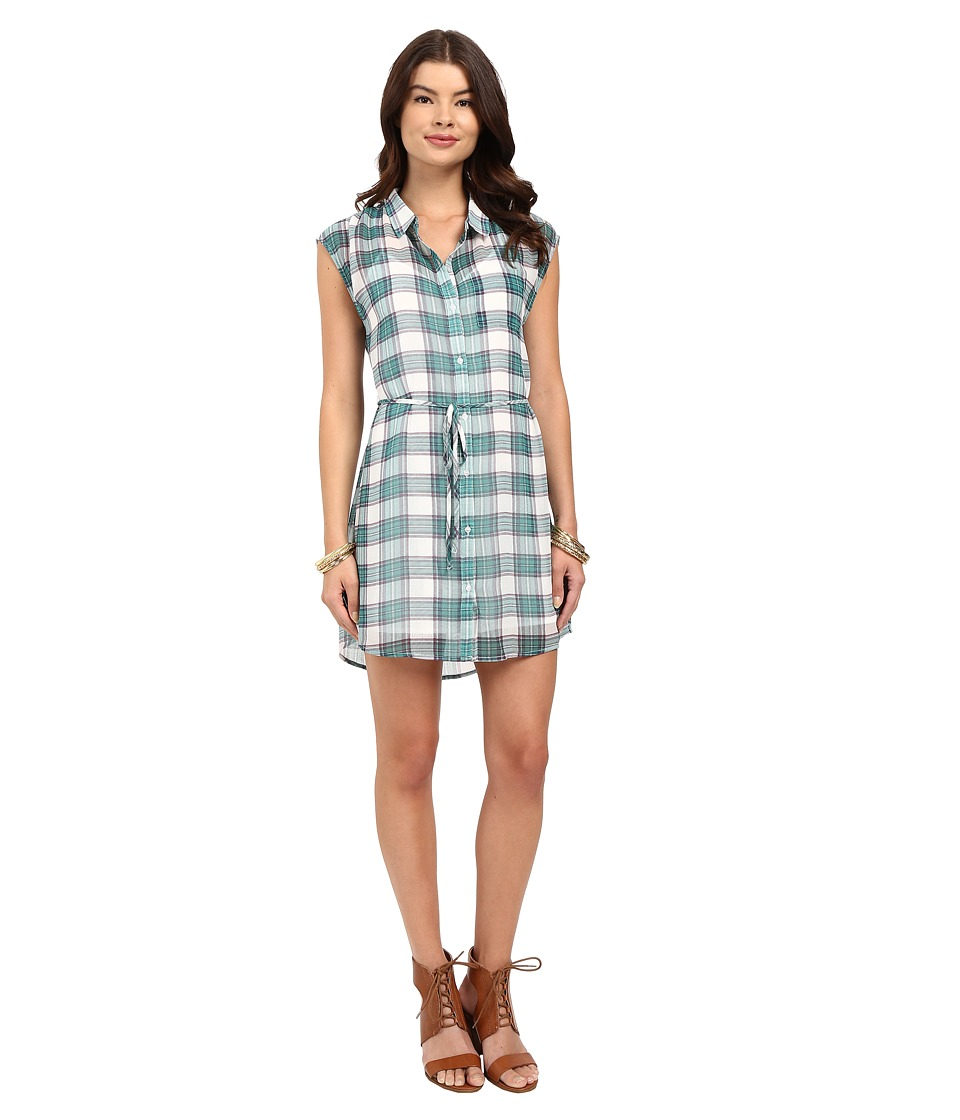 Jack by BB Dakota - Katrin Pastel Plaid Crinkle Gauze Shirtdress (Multi) Women's Dress