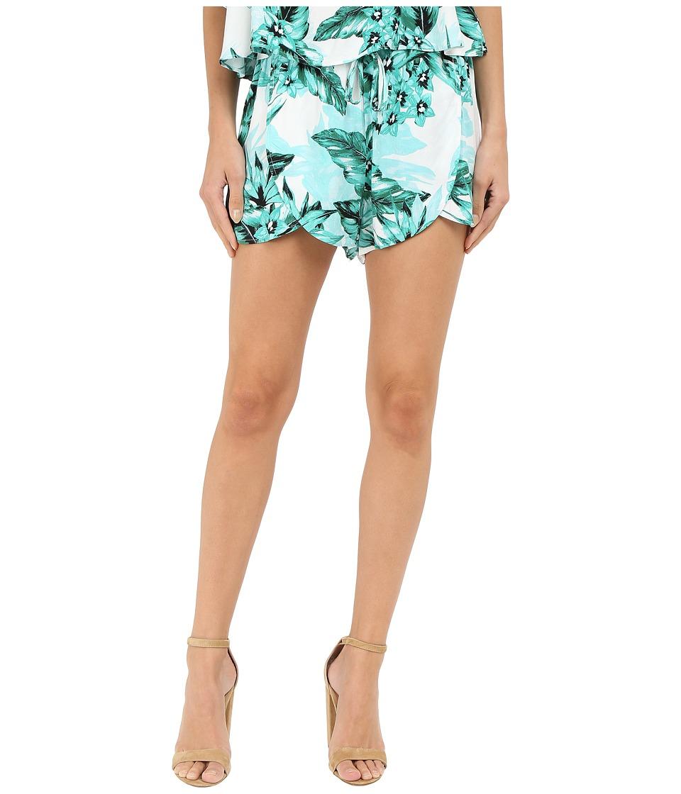 Jack by BB Dakota - Langford Tropical Bliss Prinited Rayon Crepe Shorts (Multi) Women's Shorts