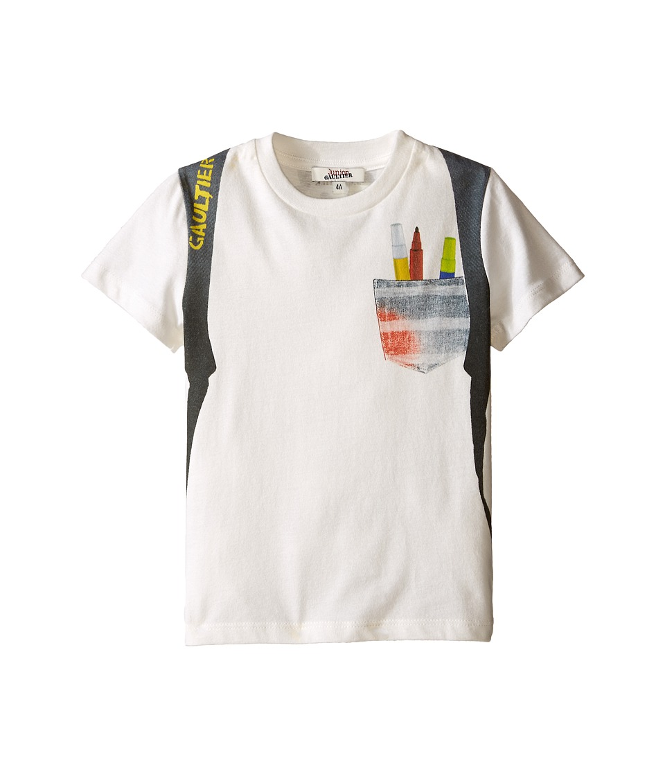 Junior Gaultier - Sidali Backpack T-Shirt (Toddler/Little Kid) (Black) Boy's T Shirt