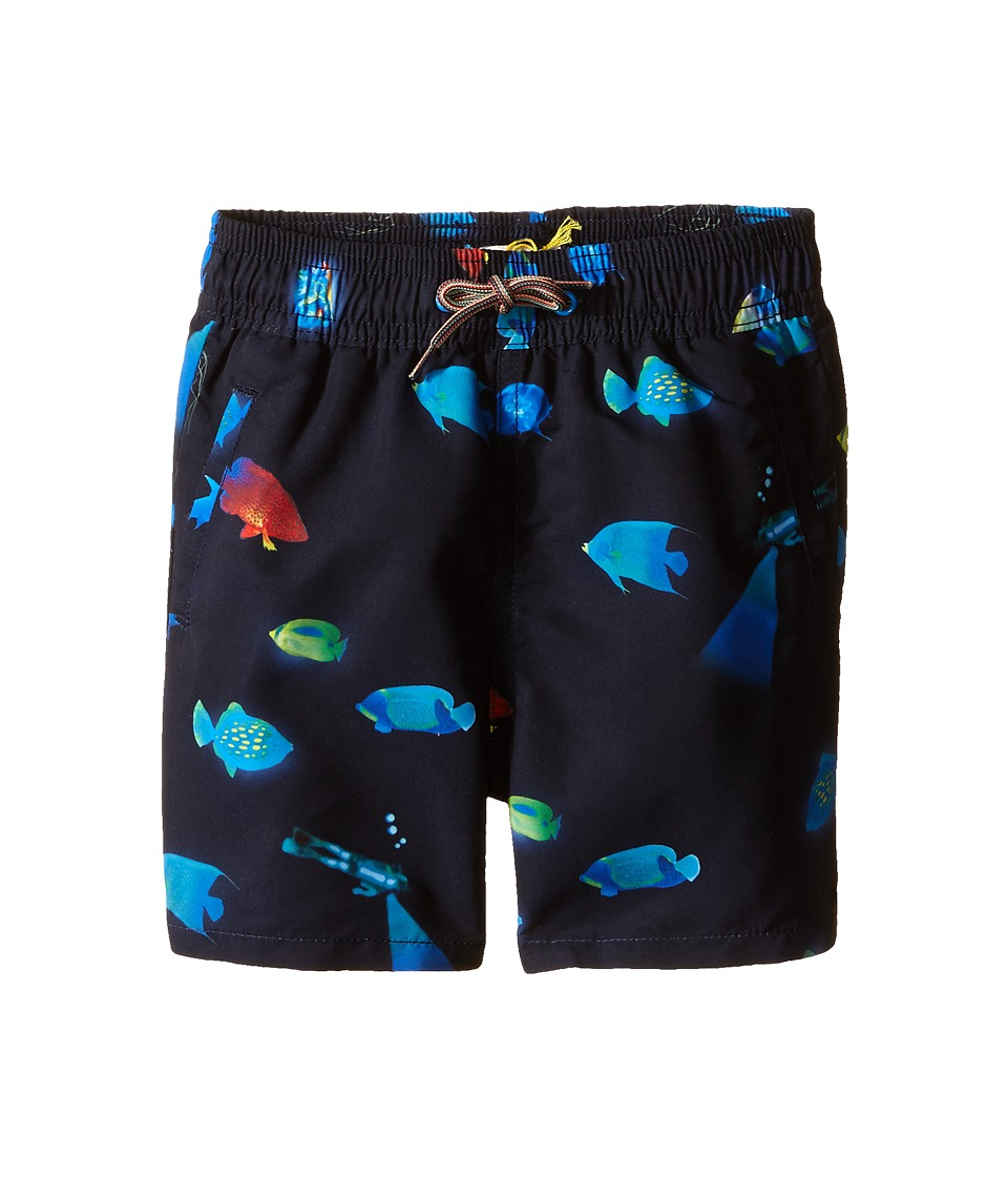 Paul Smith Junior - Bathing Trunks (Toddler/Little Kids) (Marine Blue) Boy's Swimwear