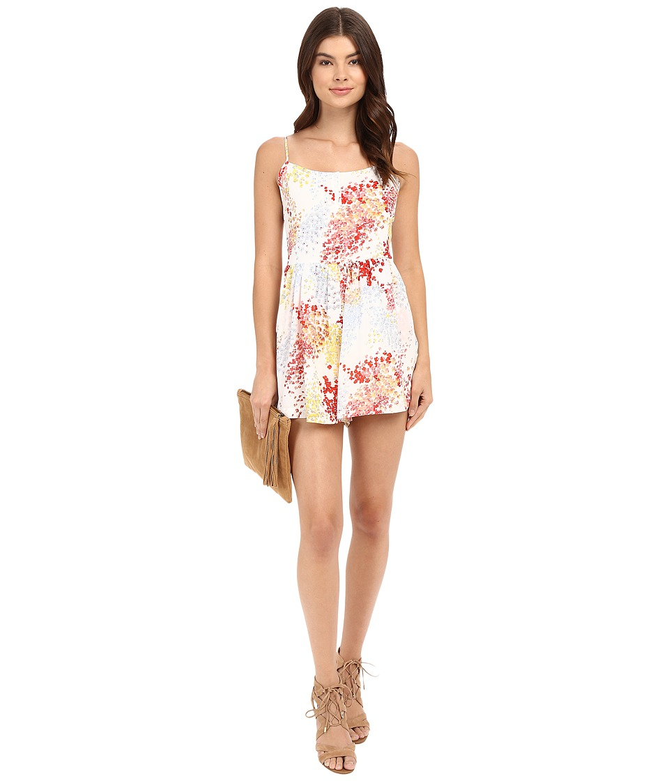 Jack by BB Dakota - Floris Printed Crepe de Chine Romper (Ivory) Women's Jumpsuit & Rompers One Piece