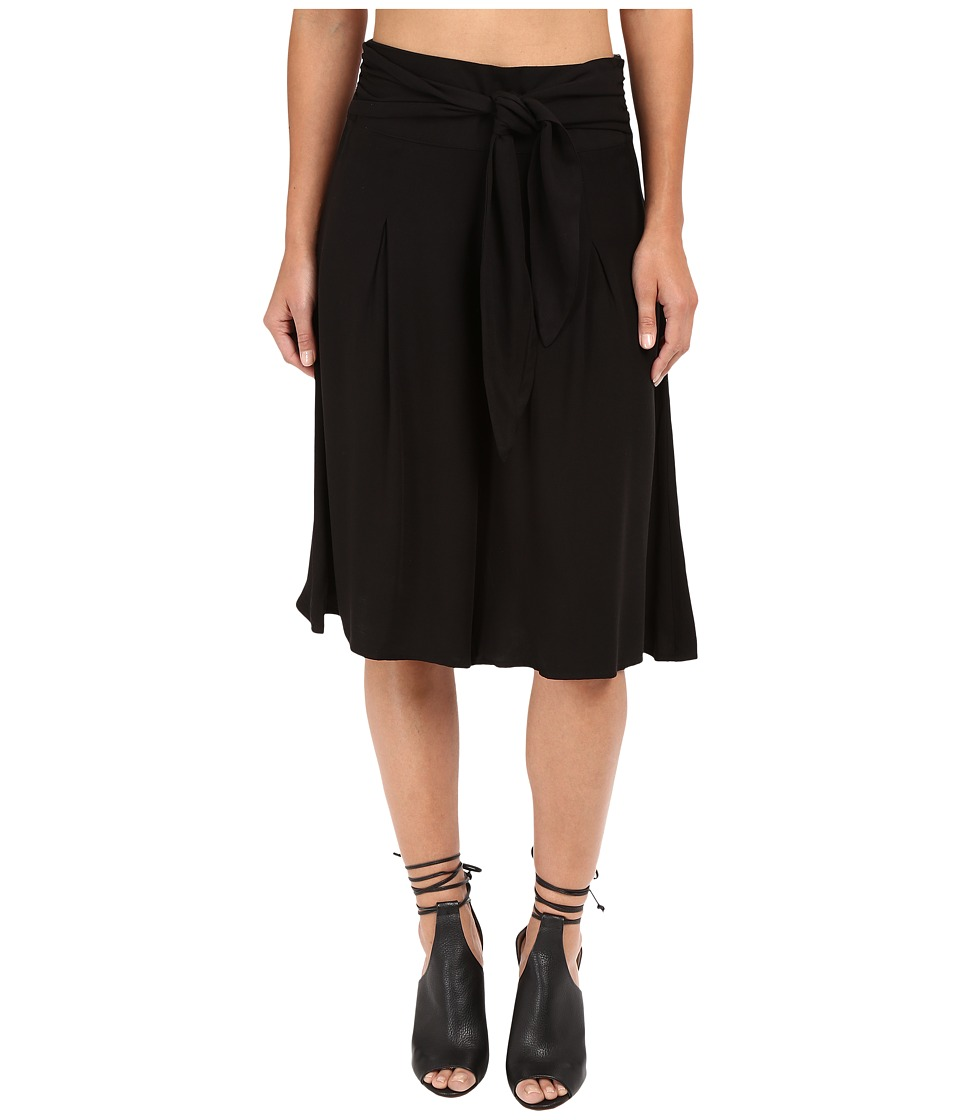 Jack by BB Dakota - Barb Rayon Twill Wide Leg Culottes (Black) Women's Casual Pants