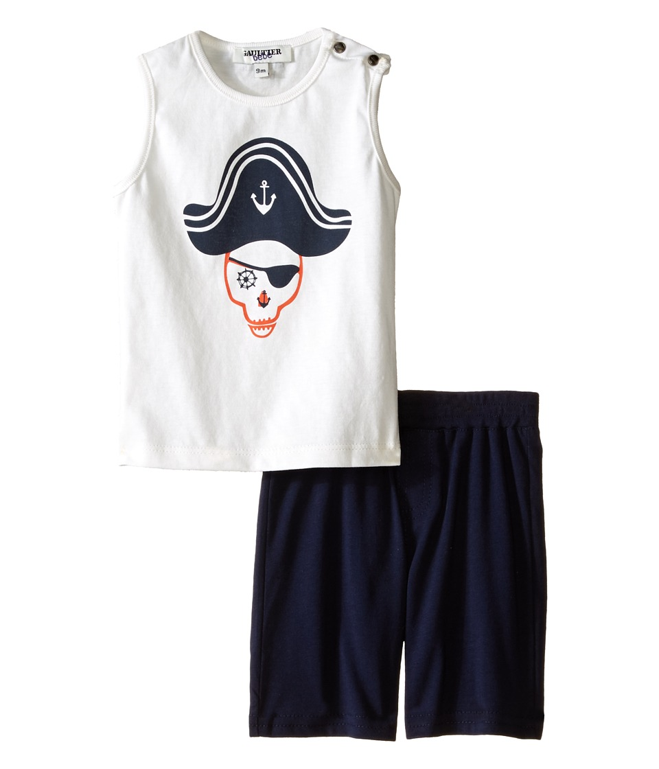 Junior Gaultier - Selami Two-Piece Set (Infant/Toddler) (Ecru) Boy's Active Sets
