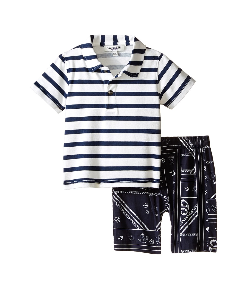 Junior Gaultier - Segundo Two-Piece Set (Infant/Toddler) (Marine Blue) Boy's Active Sets
