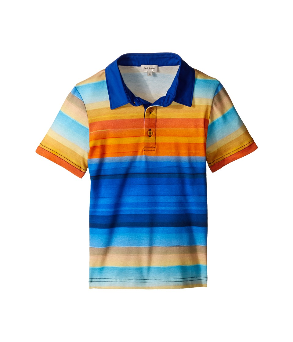 Paul Smith Junior - Striped Polo Shirt (Toddler/Little Kids) (Multicolor) Boy's Clothing