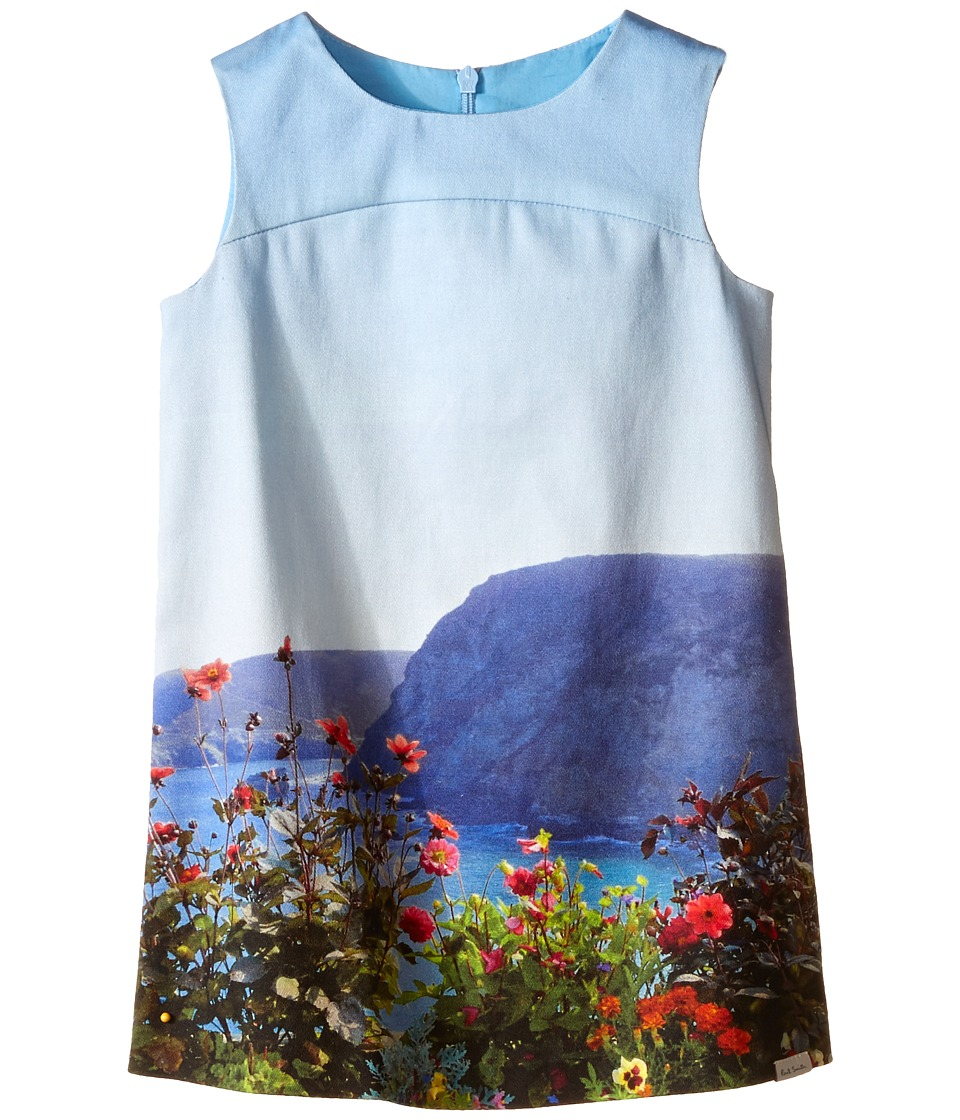 Paul Smith Junior - Landscape Dress (Toddler/Little Kids) (Turquoise) Girl's Dress