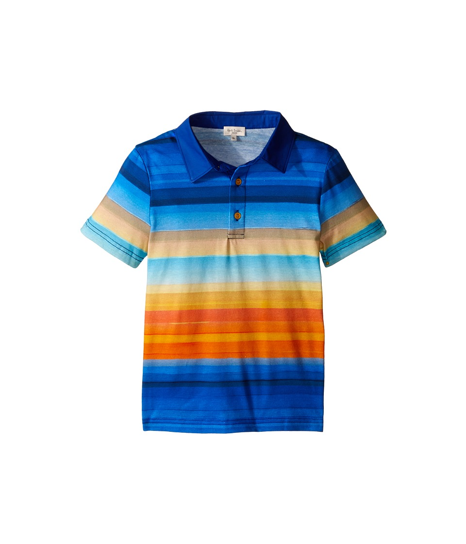 Paul Smith Junior - Striped Polo Shirt (Big Kids) (Multicolor) Boy's Clothing
