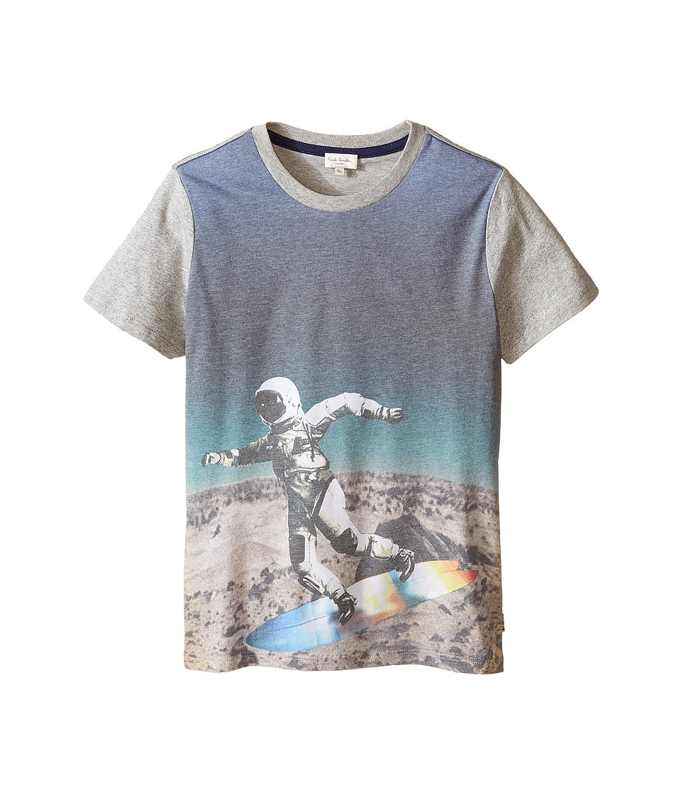 Paul Smith Junior - All Over Astronaut Print Tee Shirt (Big Kids) (Grey Chine) Boy's T Shirt