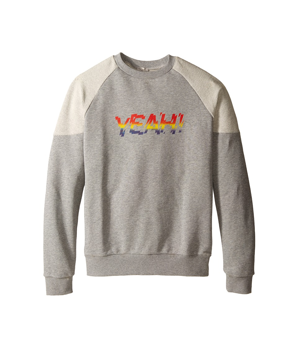 Paul Smith Junior - Yeah Sweatshirt (Big Kids) (Grey Chine) Boy's Sweatshirt