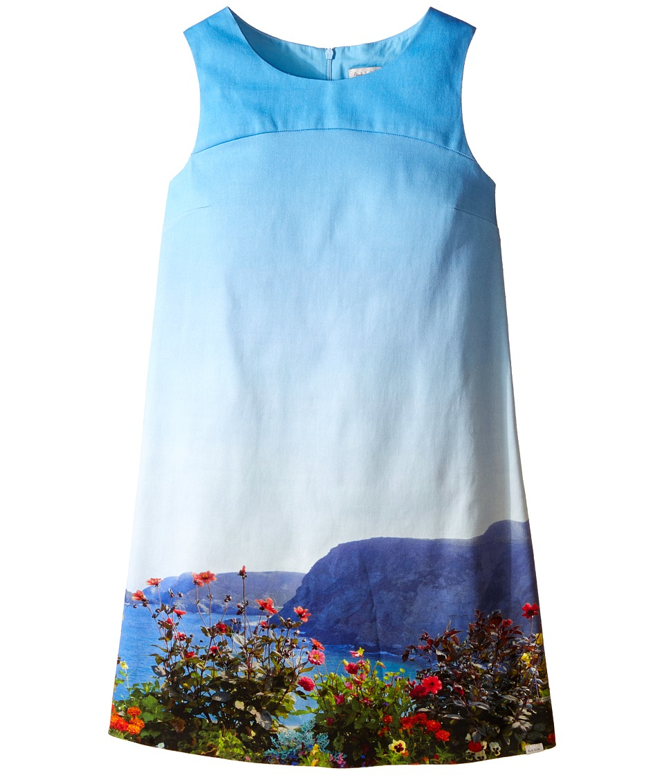 Paul Smith Junior - Landscape Dress (Big Kids) (Turquoise) Girl's Dress