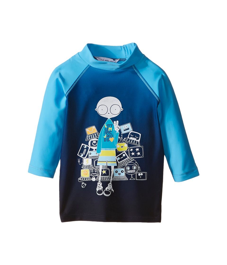 Little Marc Jacobs Mr Marc Graphic Rashguard Infant Blue Boys Swimwear