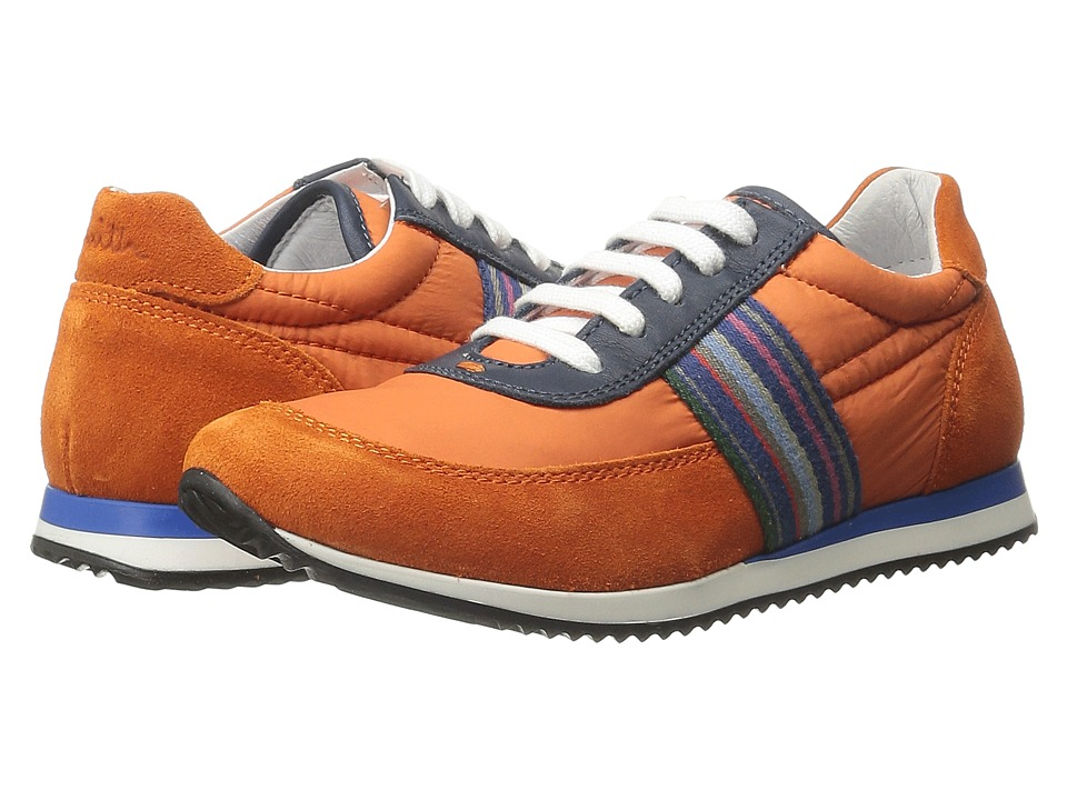 Paul Smith Junior - Blue/Orange Sneakers (Little Kid) (Dark Orange) Boys Shoes