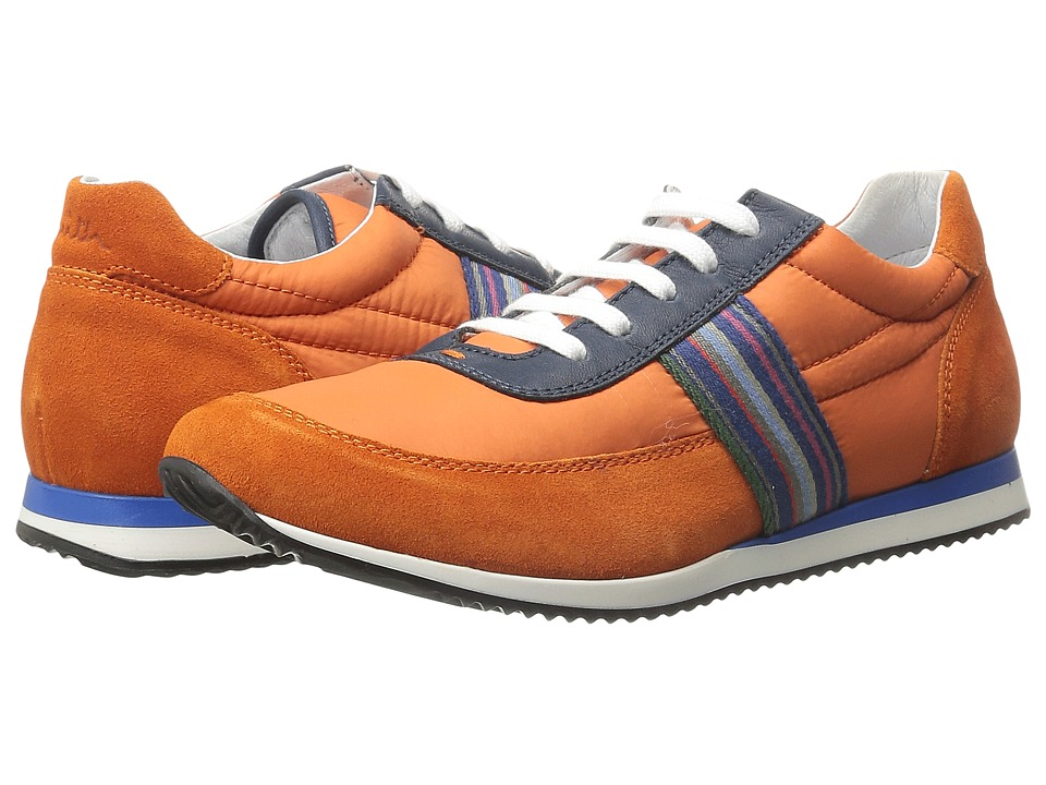 Image of Paul Smith Junior - Blue/Orange Sneakers (Little Kid/Big Kid) (Dark Orange) Boys Shoes