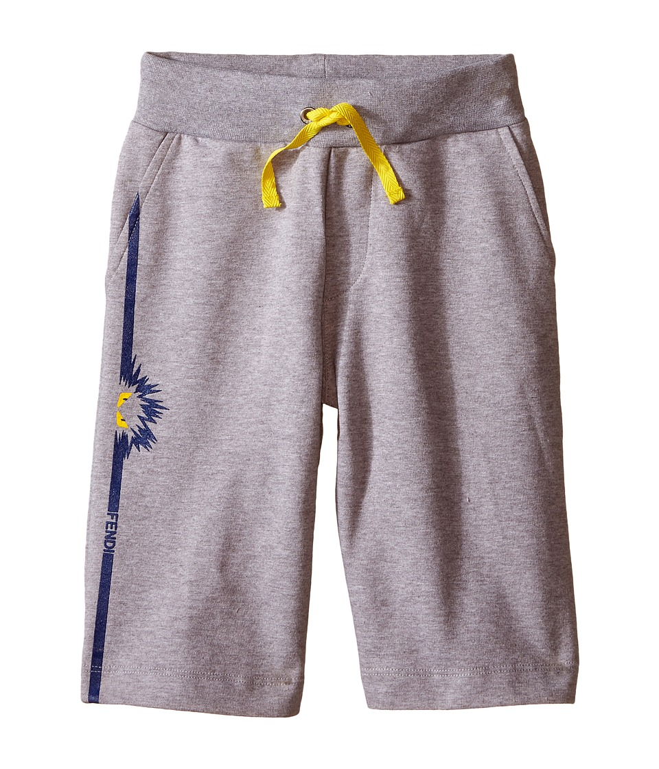 Fendi Kids - Sweat Shorts with Monster Detail (Little Kids) (Grey) Boy's Shorts