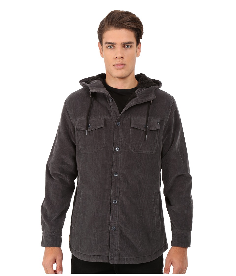 Rip Curl - Dawn Patrol Cord Jacket (Asphalt) Men's Coat