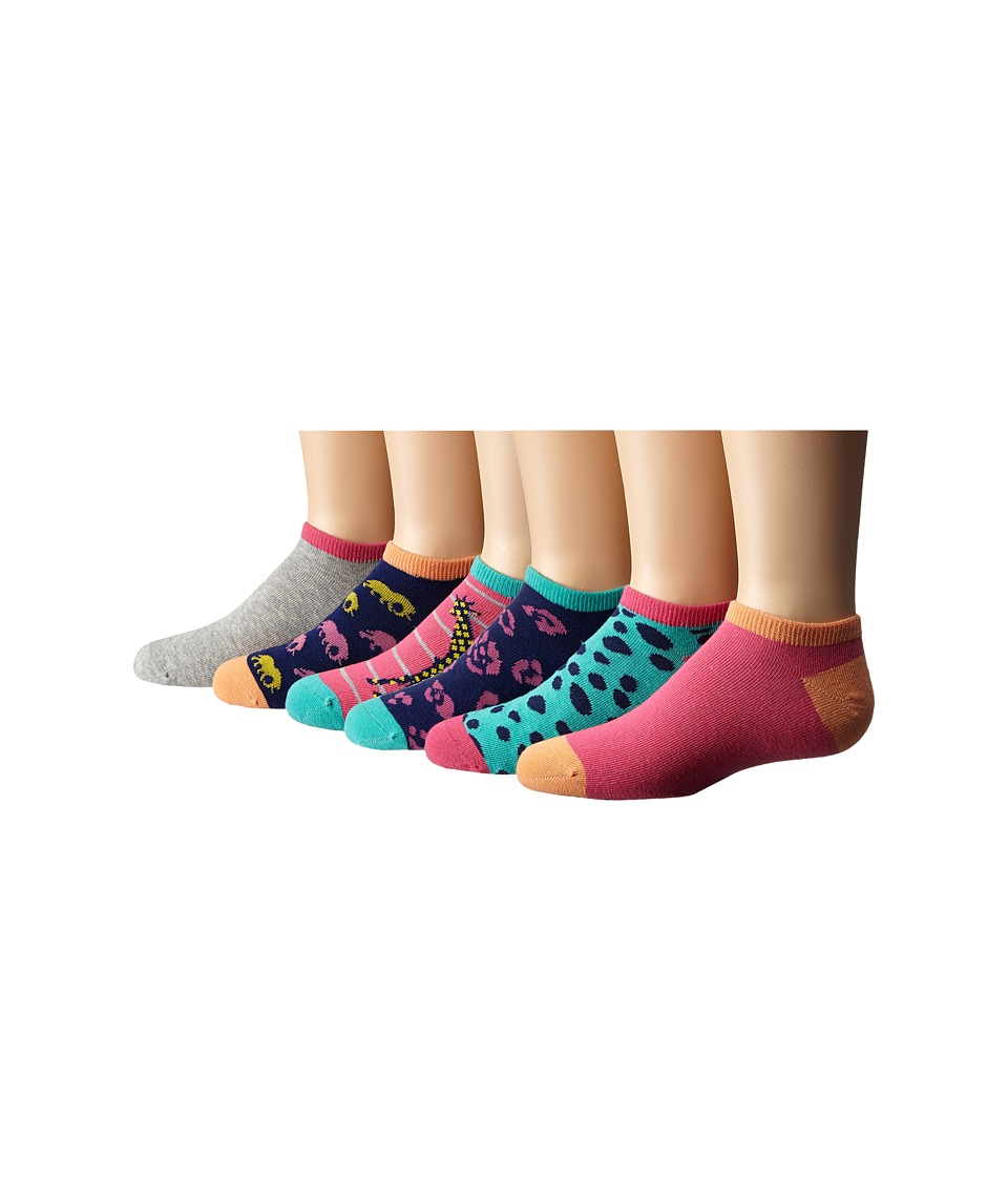 Stride Rite - 12-Pack Avery Animals No Show with Seamless Toe (Infant/Toddler/Little Kid/Big Kid) (Medium Pink) Girls Shoes