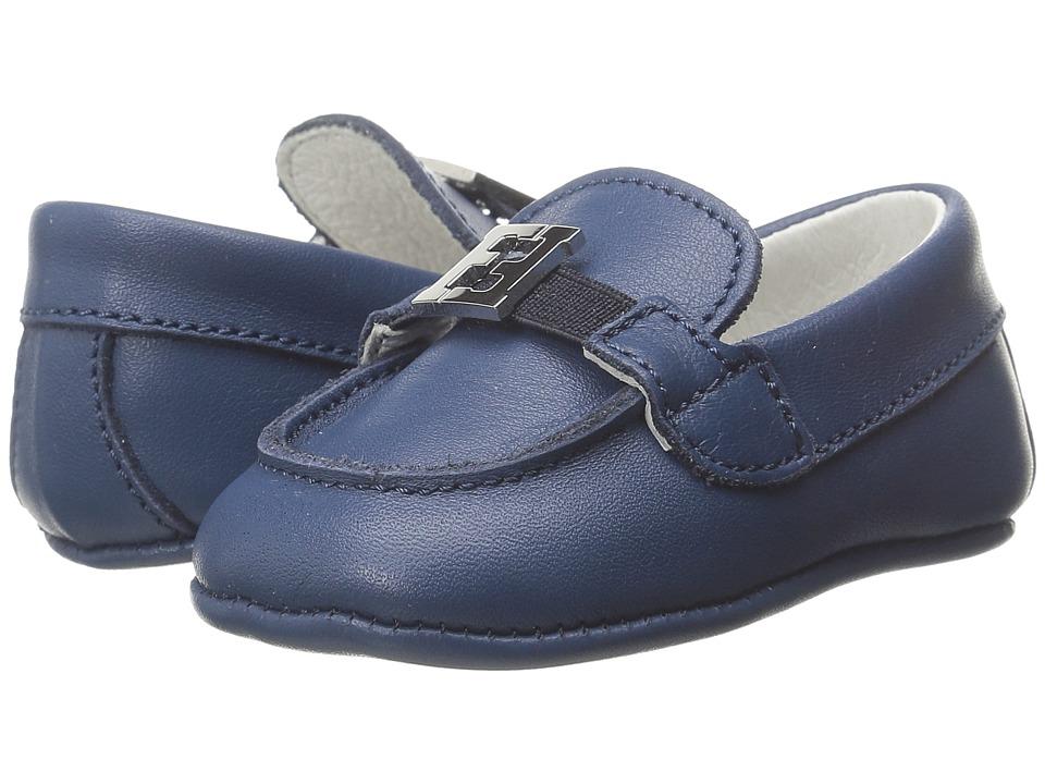 Fendi Kids - Shoes with Logo Detail (Infant) (Blue) Boy's Shoes